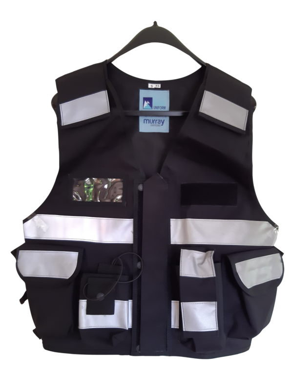 Multi Pocket Vest 3M Hi Vis Tape Black