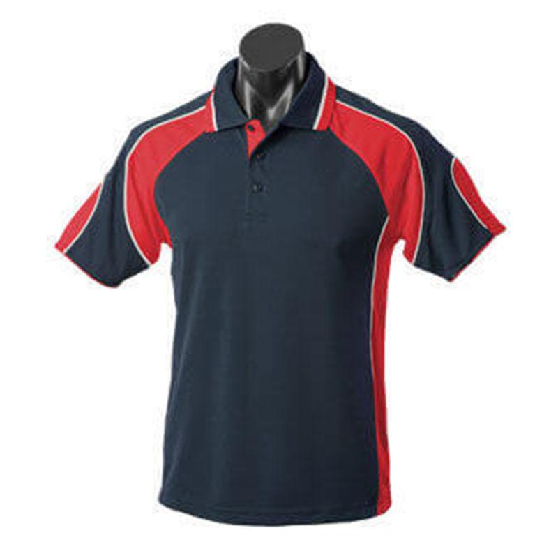 Murray Men's Polo Navy/Red/Ash