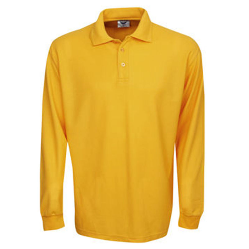 Premium Long Sleeve Pique Polo Gold