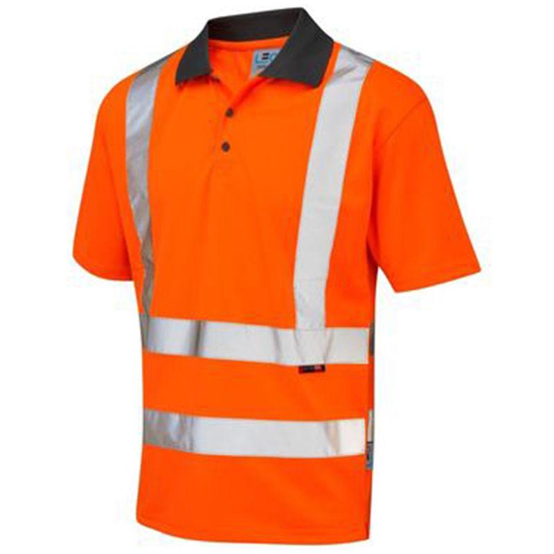 Recycled Coolviz Polo Shirt Orange