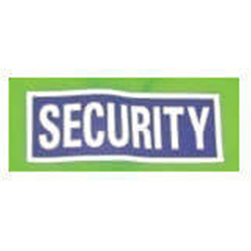 Reflective Sew On Security Transfer   Small