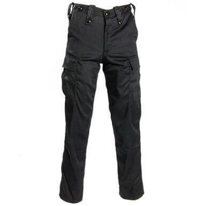 Security Cargo Trousers Black