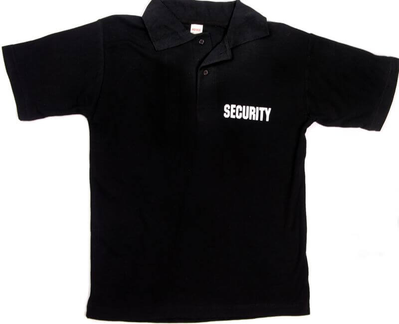 Security Polo Black Front