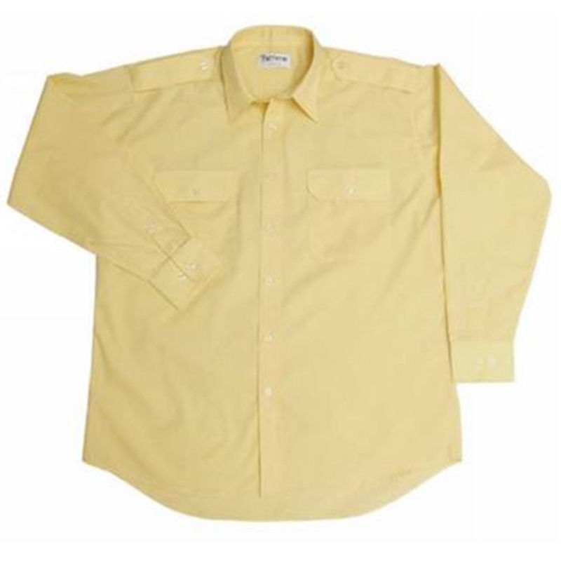 Versatile Shirt with Epaulettes and Long Sleeves Gold