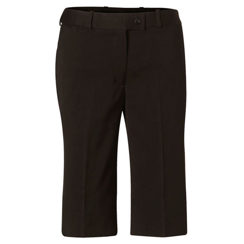 Womenand39s PolyViscose Stretch Knee Length Flexi Waist Shorts Charcoal