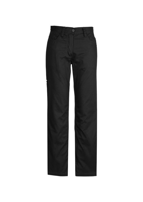 Womens Plain Utility Pant Black