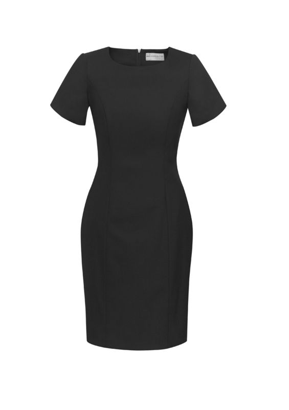 Womens Short Sleeve Dress Black