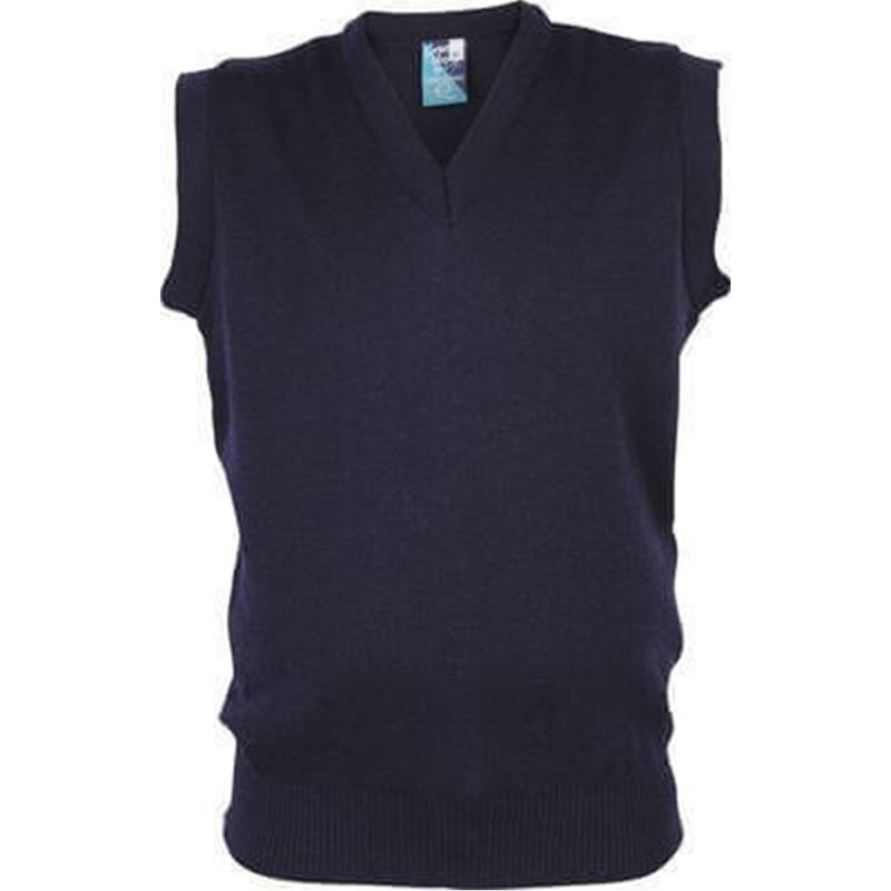 Wool Mix V-Neck style Vest Navy