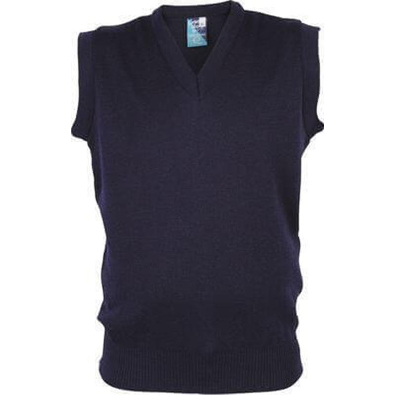 Wool Mix V-Neck style Vest Navy
