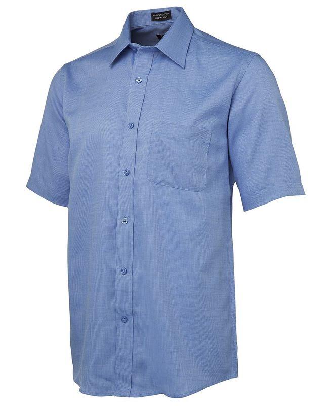 Yarn Dyed Check Short Sleeve Shirt Blue