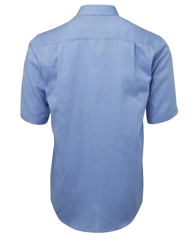 Yarn Dyed Check Short Sleeve Shirt Blue