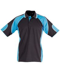 Alliance Polo Black/Aqua