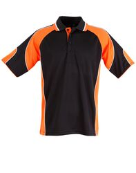 Alliance Polo Black/Orange
