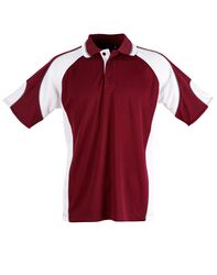 Alliance Polo Maroon/White