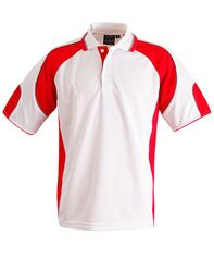 Alliance Polo White/Red