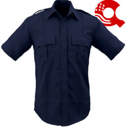 American Styling Epaulette Short Sleeve Shirt Navy