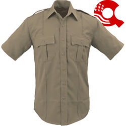 American Styling Epaulette Short Sleeve Shirt Tan