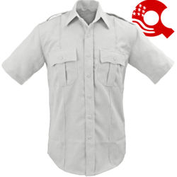 American Styling Epaulette Short Sleeve Shirt White