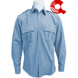 American Styling Uniform Long Sleeve Shirt Blue