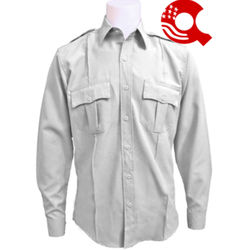 American Styling Uniform Long Sleeve Shirt White