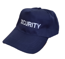 Baseball Cap PolyCotton  Security White