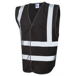 Black Hi VIs Security Vest