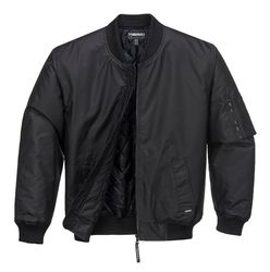Bomber Jacket Waterproof Black from Murray Uniforms