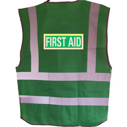 First Aid Reflective Coloured Hi Vis Vest