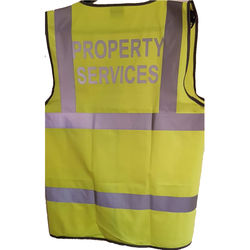 Coloured Hi Vis Vest Silver title to rear