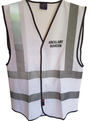 Coloured Hi Vis Vest with title added to LH Chest