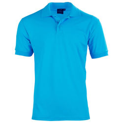 Connection Polo Menand39s Aqua Blue