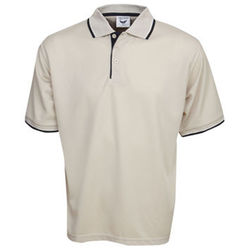 Cooldry Micro Mesh Polo Beige/Navy/White