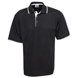 Cooldry Micro Mesh Polo Black/White/Silver