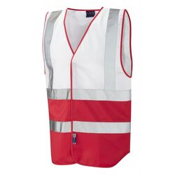Covid Hi Vis Vest White/Red