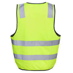 DayNight Vests Yellow rear from Murray Uniforms