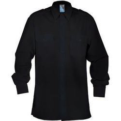 Epaulette Pilot Shirt Long Sleeve Black