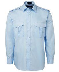 Epaulette Shirt LS Blue
