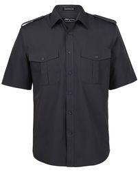 Epaulette Shirt SS Charcoal