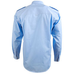 Epaulettes Superior Shirt   Long Sleeve Blue