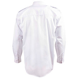Epaulettes Superior Shirt   Long Sleeve White