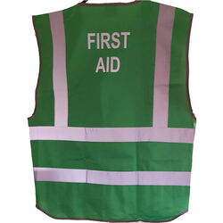 First Aid Coloured Hi Vis Vest