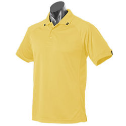 Flinders Mens Polo Canary/Black