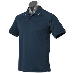 Flinders Mens Polo Navy/White