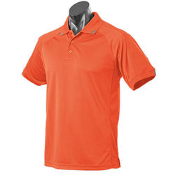 Flinders Mens Polo Orange/Slate