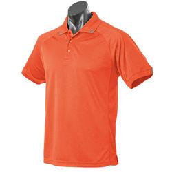 Flinders Mens Polo Orange/Slate