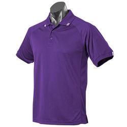 Flinders Mens Polo Purple/White