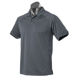 Flinders Mens Polo Slate/Black