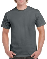 Gildan Men+39s Classic Short Sleeve T Shirt Charcoal