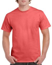 Gildan Men+39s Classic Short Sleeve T Shirt Coral Silk