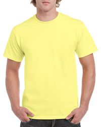 Gildan Men+39s Classic Short Sleeve T Shirt Corn Silk